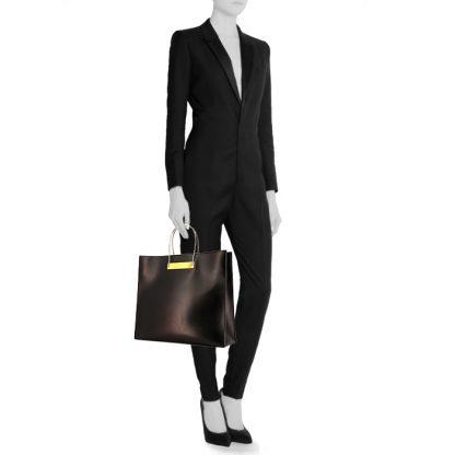 c847986019b7 Best Balenciaga Replica shopping bag in black leather – 7 Star AAA ...