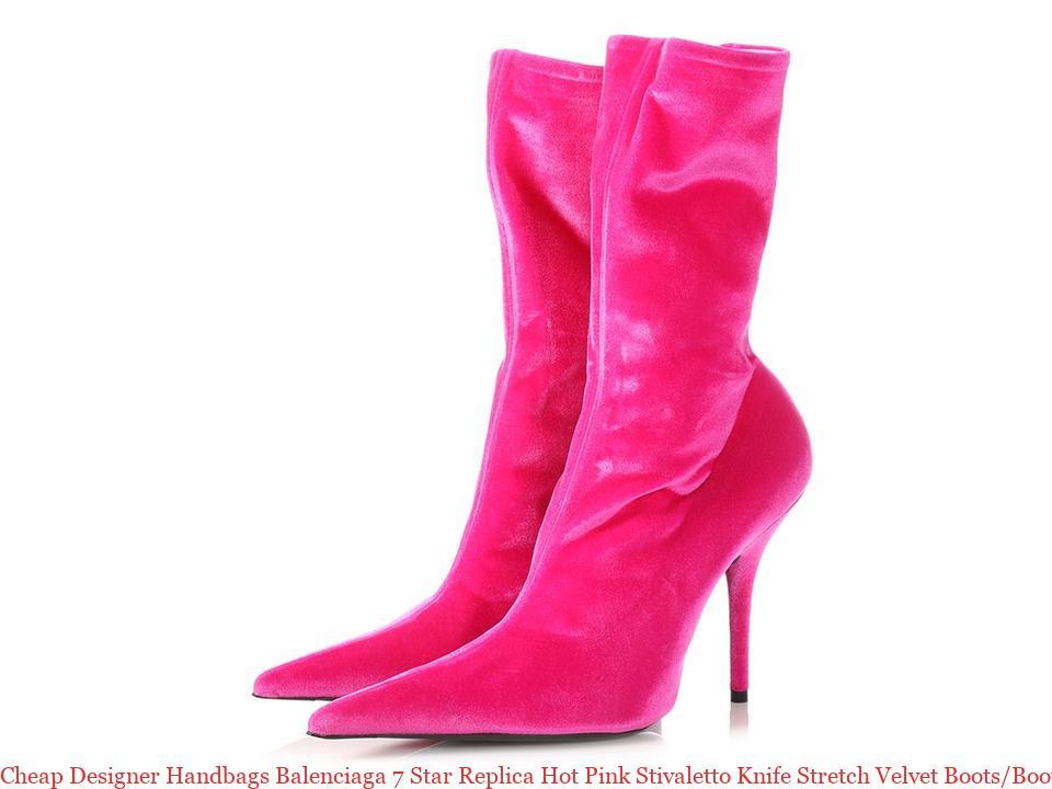 Cheap Designer Handbags Balenciaga 7 Star Replica Hot Pink