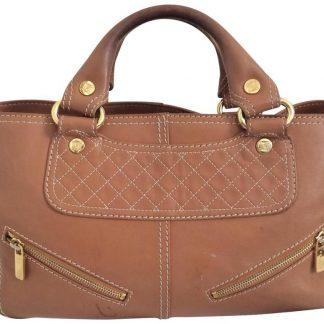 ... replica handbag £177.60  Top Designer Qualities Céline Fake Boogie  Vintage Brown Leather Satchel celine trio bag ... 397626f41ff2b