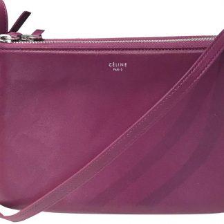 Top Designer Qualities Céline Knockoff Trio Small Grape Leather Cross Body  Bag celine bag sale ... f478773edea0e