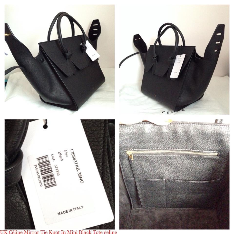 eb94728a8f0e UK Céline Mirror Tie Knot In Mini Black Tote celine – 7 Star AAA Replica  Handbags