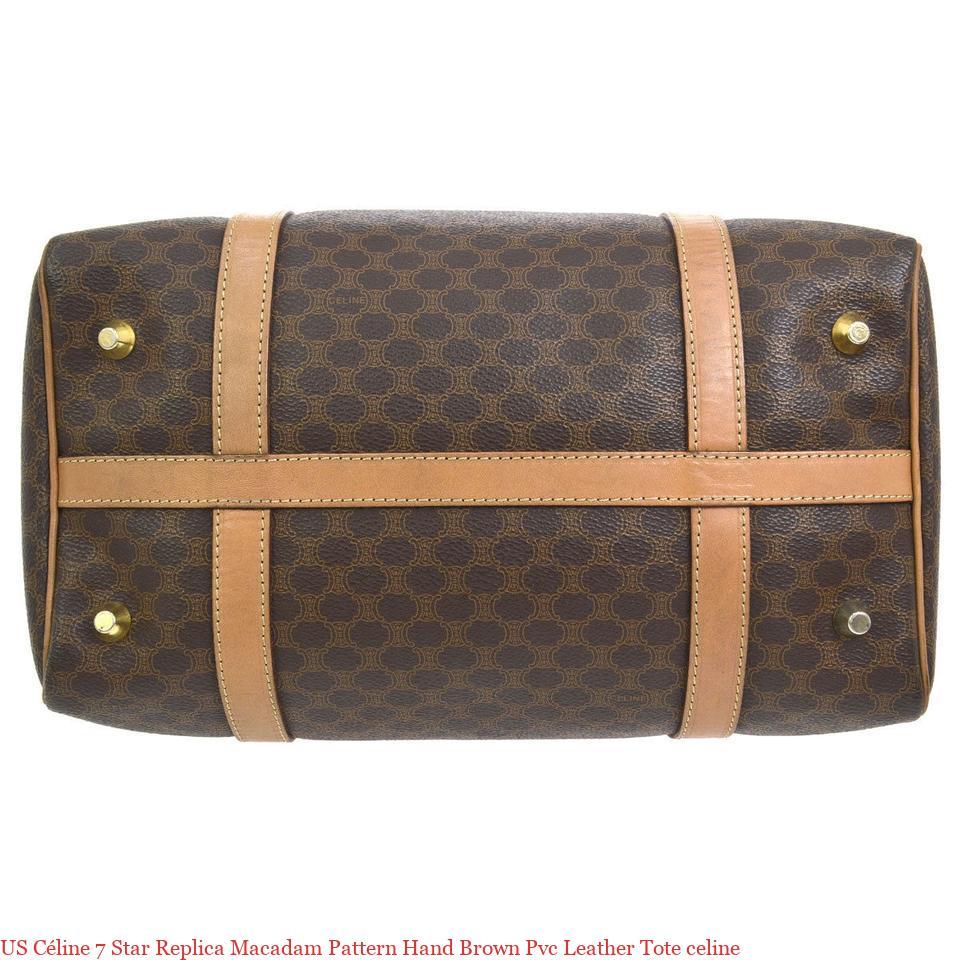 US Céline 7 Star Replica Macadam Pattern Hand Brown Pvc Leather Tote celine  – 7 Star AAA Replica Handbags 0f340c3ecb210